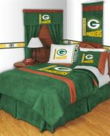 Buy Green Bay Packers team bedding, Comforters, Drapes, and Sheets