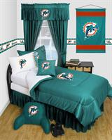 Buy Miami Dolphins team bedding, Comforters, Drapes, and Sheets