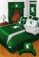 Buy Michigan State Spartans team bedding, Comforters, Drapes, and Sheets