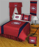 Buy Montreal Canadiens team bedding, Comforters, Drapes, and Sheets