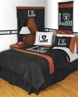 Buy Oakland Raiders team bedding, Comforters, Drapes, and Sheets