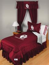 Buy Oklahoma Sooners team bedding, Comforters, Drapes, and Sheets