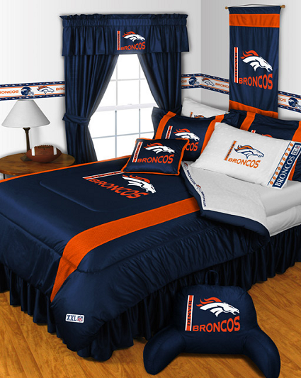 Denver Broncos Sports Bedding. Sports Bedding Sets  Comforters  Drapes  Sheets   TeamBedding com