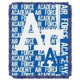 "Air Force Falcons NCAA ""Double Play"" Woven Jacquard Throw"