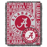"Alabama Crimson Tide NCAA ""Double Play"" Woven Jacquard Throw"