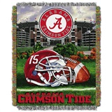 "Alabama Crimson Tide NCAA ""Home Field Advantage"" Woven Tapestry Throw"