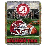 "Alabama Crimson Tide ""Home Field Advantage"" Woven Tapestry Throw"
