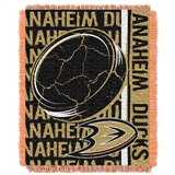 "Anaheim Ducks NHL ""Double Play"" Woven Jacquard Throw"