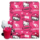 Arizona Cardinals Hello Kitty Hugger and Fleece Throw Set