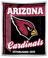 "Arizona Cardinals NFL ""Old School"" Mink Sherpa Throw"