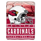 "Arizona Cardinals ""Stacked"" Silk Touch Raschel Throw"