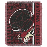 "Arizona Coyotes NHL ""Double Play"" Woven Jacquard Throw"