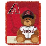 "Arizona Diamondbacks MLB ""Field Bear"" Baby Woven Jacquard Throw"