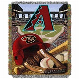 "Arizona Diamondbacks MLB ""Home Field Advantage"" Woven Tapestry Throw"