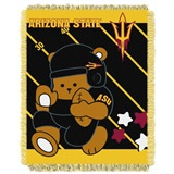 "Arizona State  Sun Devils NCAA ""Fullback"" Baby Woven Jacquard Throw"