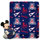 "Arizona Wildcats NCAA ""Mickey"" Hugger and Fleece Throw"