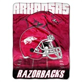 "Arkansas Razorbacks NCAA ""Overtime"" Micro Raschel Throw"