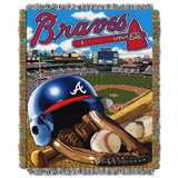 "Atlanta Braves MLB ""Home Field Advantage"" Woven Tapestry Throw"