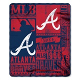 "Atlanta Braves MLB ""Strength"" Fleece Throw"