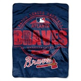 "Atlanta Braves MLB ""Structure"" Micro Raschel Throw"