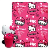 Atlanta Falcons Hello Kitty Hugger and Fleece Throw Set