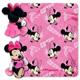 Atlanta Falcons NFL Minnie Mouse Shaped Pillow and Throw Set