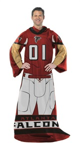 "Atlanta Falcons NFL ""Uniform"" Adult Comfy Throw"