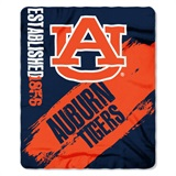 "Auburn Tigers ""Painted"" Fleece Throw"