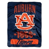 "Auburn Tigers ""Varsity"" Micro Raschel Throw"