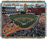 "Baltimore Orioles MLB ""Camden Yards"" Stadium Tapestry Throw"
