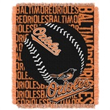 "Baltimore Orioles MLB ""Double Play"" Woven Jacquard Throw"