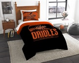 "Baltimore Orioles MLB ""Grand Slam"" Twin Comforter Set"