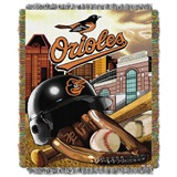 "Baltimore Orioles MLB ""Home Field Advantage"" Woven Tapestry Throw"