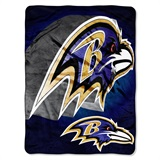 "Baltimore Ravens ""Bevel"" Micro Raschel Throw"