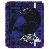 "Baltimore Ravens ""Double Play"" Woven Jacquard Throw"
