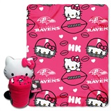 Baltimore Ravens Hello Kitty Hugger and Fleece Throw Set