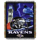 "Baltimore Ravens ""Home Field Advantage"" Woven Tapestry Throw"