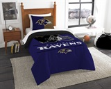 "Baltimore Ravens NFL ""Draft"" Twin Comforter Set"