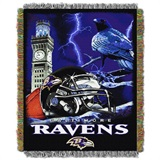 "Baltimore Ravens NFL ""Home Field Advantage"" Woven Tapestry Throw"