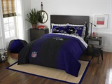 "Baltimore Ravens NFL ""Soft & Cozy"" Full Comforter Set"