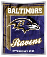 "Baltimore Ravens ""Old School"" Mink with Sherpa Throw"