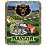 "Baylor Bears NCAA ""Home Field Advantage"" Woven Tapestry Throw"