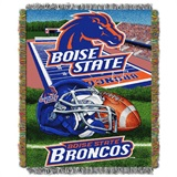 "Boise State Broncos NCAA ""Home Field Advantage"" Woven Tapestry Throw"