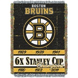"Boston Bruins NHL ""Commemorative"" Woven Tapestry"