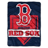 "Boston Red Sox MLB ""Home Plate"" Raschel Throw"