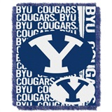 "BYU Cougars NCAA ""Double Play"" Woven Jacquard Throw"