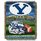 "BYU Cougars NCAA ""Home Field Advantage"" Woven Tapestry Throw"