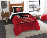"Calgary Flames NHL ""Draft"" Twin Comforter Set"