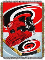 "Carolina Hurricanes NHL ""Home Ice Advantage"" Woven Tapestry Throw"