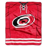 Carolina Hurricanes NHL Jersey Raschel Throw